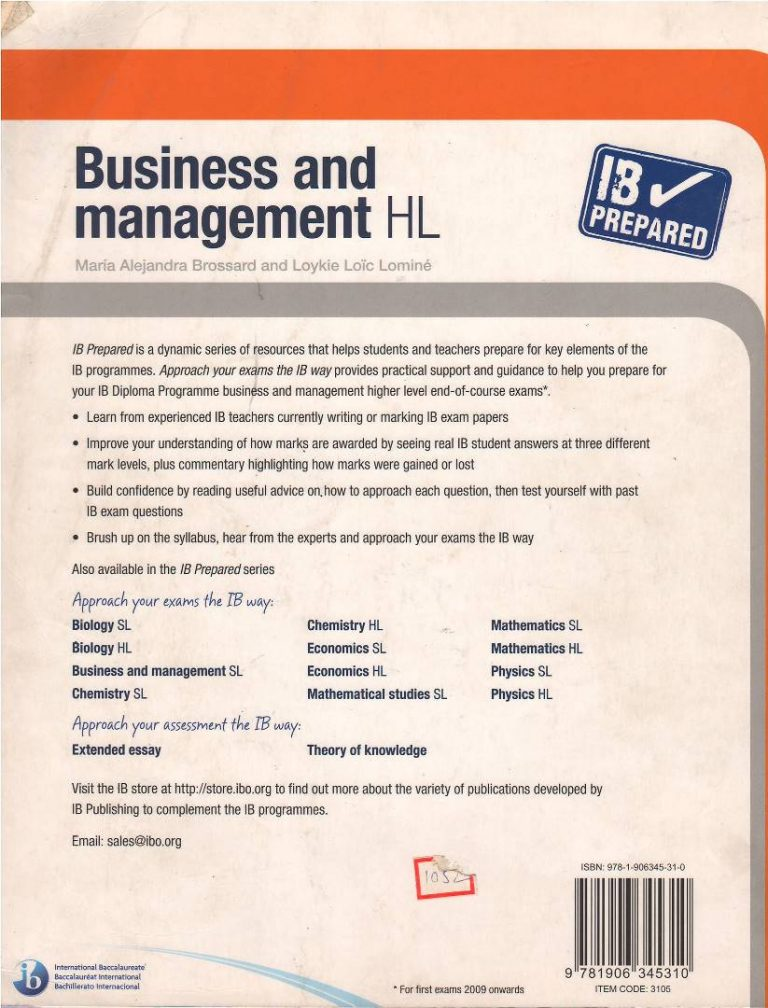 IB Prepared : Business and Management HL