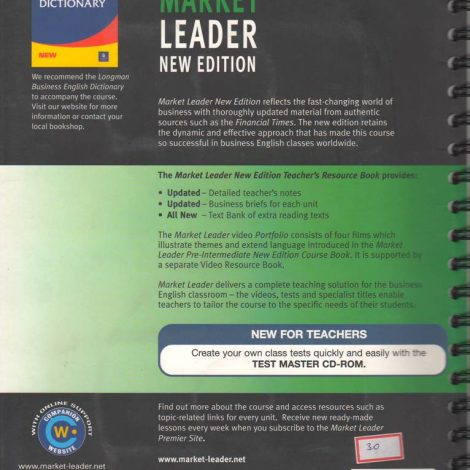Market Leader Upper Intermediate Teachers Resource Book