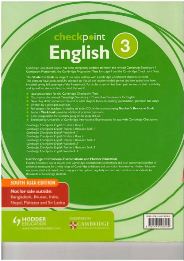 Cambridge Checkpoint English 3 Updated for 2018