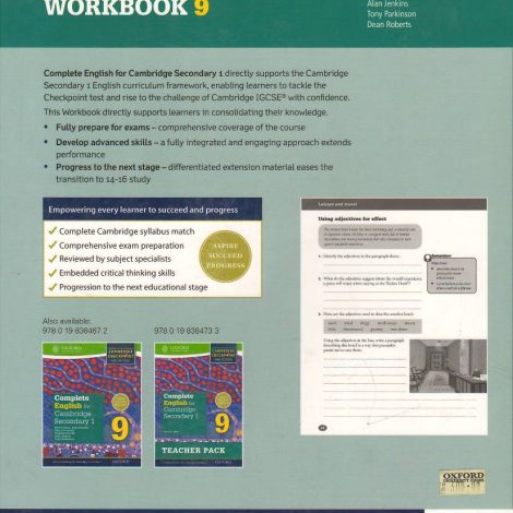 Complete English For Cambridge Secondary 1 Workbook 9