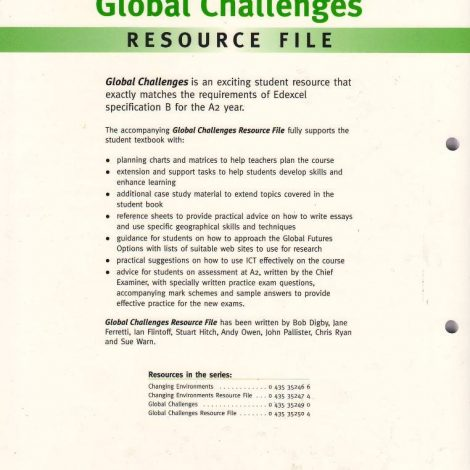 Heinemann 16 19 Geography For Edexcel B Global Challenges Resource