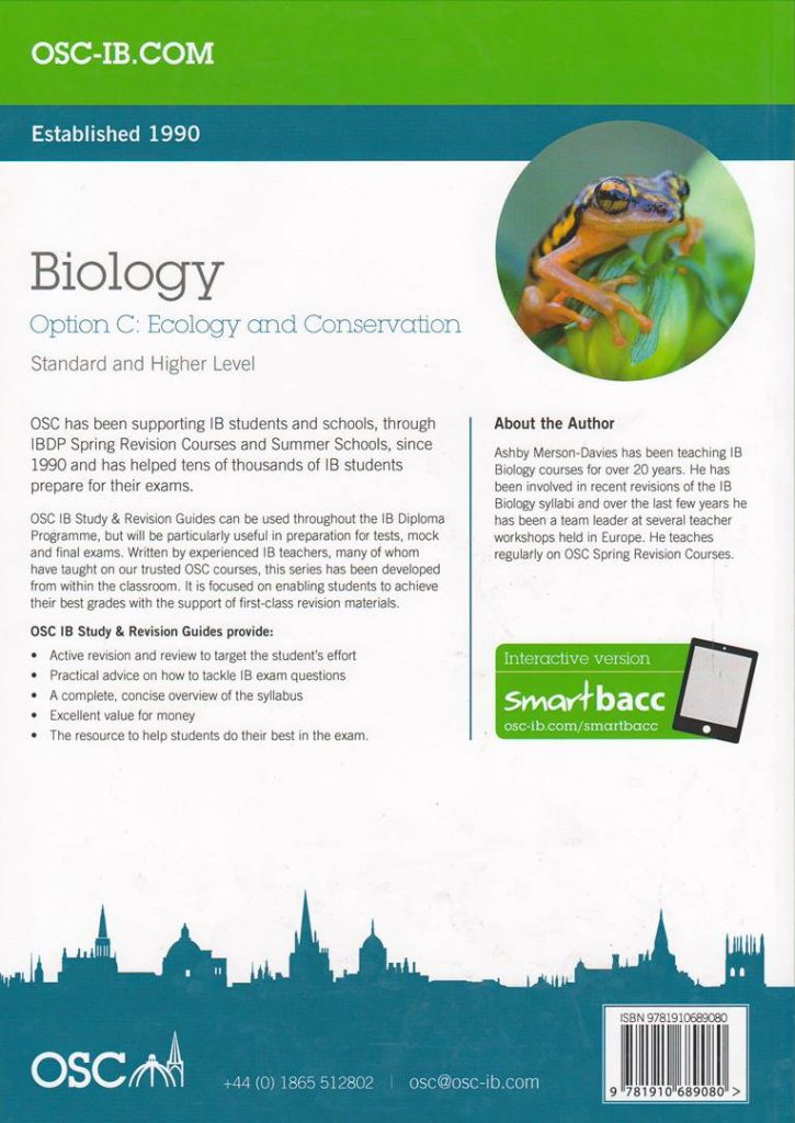 Biology Option C: Ecology and Conservation Standard And Higher Level