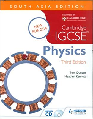 Physics IGCSE Cambridge Course Book Third Edition with CD