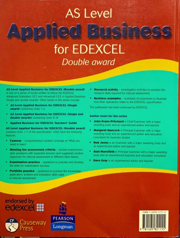 AS Applied Business for Edexcel (double award)