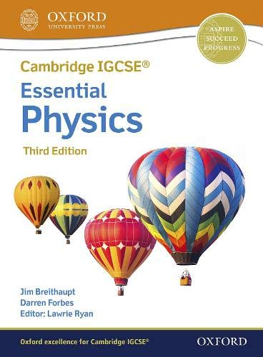Oxford Essential Physics student Book Third Edition